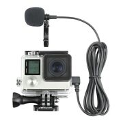 Side Open Skeleton Housing Case + 6.6and039 External Microphone For Gopro Hero 3 3+ 4