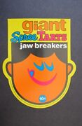 Vintage Gumball Machine Giant Spree Tarts Jaw-breakers Card Sign 1970s