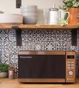 Rose Gold Copper Effect Microwave Digital Display 800w Kitchen Appliance