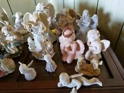 18 Ceramic Angels.andnbsp A Few Are Dreamsicles.andnbsp All Used