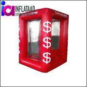 7 Ft Red Inflatable Cash Cube