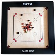 Tournament Carrom Board Game W/ Free Coins + Striker Christmas Gift For Father
