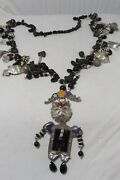 Rare Liztech Sterling Techno Cat Necklace 1 Of 4 Signed, Dated 91, Bee Charms