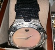 Women's Movado Sports Edition Se Vintage Mother Of Pear With 140 Vs1 Diamonds