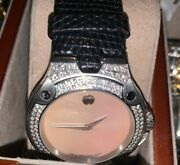 Womenand039s Movado Sports Edition Se Vintage Mother Of Pear With 140 Vs1 Diamonds