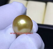 Collectible Top Natural Round Real Golden 14-15mm Loose South Sea Pearlpendant