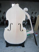 3/4 White Unfinished Upright Double Bass Solid Maple Spruce Wood Hand Made