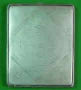 Antique Imperial Russian Russia German Germany Sterling Silver Cigarette Case