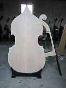 Unfinished Upright Double Bass Solid Maple Spruce Wood 3/4 White Double Bass