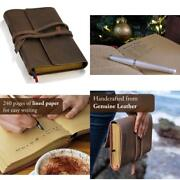 Handmade Leather Lined Journal Notebook Genuine Bound Daily Notepad For Men Wo