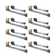 8 Pack 2 X 16and039 E-track Ratchet Strap Truck Trailer Enclosed Cargo Van Tie Down