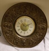 Vintage Sessions Wall Clock Gold Bronze Knights In Shining Armor