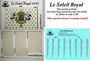 Heller Le Soleil Royal 1100 - Set Of Flags And Draft Scales For Model Fr