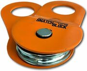 Gearamerica Snatch Block 9ton   Winch Pulley System For Synthetic Or Steel Cable