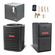 Goodman - 1.5 Ton Cooling - 40k Btu/hr Heating - Air Conditioner + 2-stage Fu...