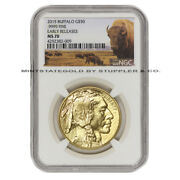 2015 50 Gold Buffalo Ngc Ms70 Early Release 1oz Bison American Bullion Coin