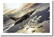 Hammer Time Pilot Edition By Peter Chilleli - F-105 Thunderchief - Aviation Art