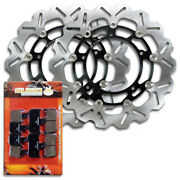 Yamaha Front Performance Stainless Steel Brake Disc Rotor And Pads Yzf R1 [07-14]