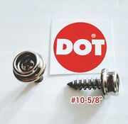 20 Pro Boat Canvas Stainless Steel Screw In Snap Studs 5/8 With Oversize Screw