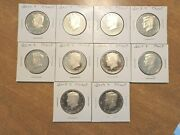 2010 11 2012 S 13 14 15 2016 S 17 18 2019 S Clad Proof Kennedy Half 10 Coin Set
