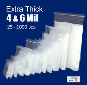 Plastic Reclosable Zip Lock Heavy-duty 4 And 6 Mil Resealable Zipper Seal Bags