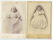 Set Of 3 Cab Card Portraits Of Babies/man From Covington Oh 1 Graphic Back