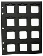 20 Coin Holder Slotted Paper 12 Pocket Page Black 2x2 Flip Bcw Thumb Cut Storage