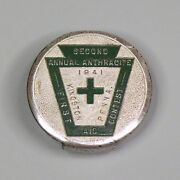 1941 Coal Mining First Aid Contest - Kingston Pa - Hickok Belt Buckle Anthracite