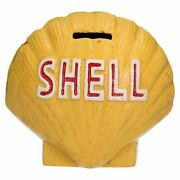 Shell Shaped Money Bank Box Cast Iron Scallop Clam Coin Change Jar Fuel Oil 3d