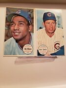 2 1964 Topps Giants Chicago Cubs Baseball Cards 52 Williams And 58 Santo Hofers