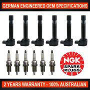 6x Ngk Spark Plugs And 6x Swan Ignition Coils For Honda Accord Cg1 Ck1