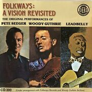 Folkways A Vision Revisited Cd Pete Seeger Woody Guthrie Leadbelly Folk Music