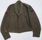 Ww2 Canadian The Lorne Scots Officers Battle Dress Tunic Jacket 1945 Dated