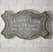 Laundry Room Farmhouse Style Metal Sign