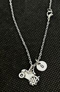 Personalized Tractor Necklace Tractor Charm Tractor Jewelry Farm Girl Necklace