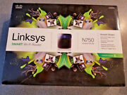 Linksys N750 Ea3500 Dual Band Wireless N Router Cisco 2.4 + 5ghz 300 + 450mbps
