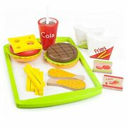 Kids Fast Food Play Set Kitchen Toddler Toy Cheeseburger Fries Pretend Gift New