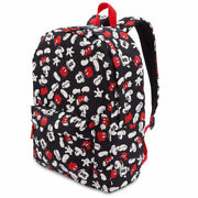 Disney Store Exclusive Backpack Full Size Mickey Mouse All Over Print Black Nwt