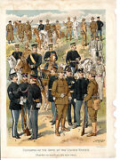 Litho-print - Uniforms Of The Army Of The United States By H.a.ogden 1904