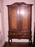 Early German Siege Cabinet On Stand C. 1672