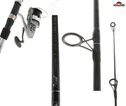 8and0390 Aerial Medium Heavy Spinning Surf Rod And Reel Combo 2 Pc New