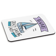 Beware Crazy Sailing Lady Pc Computer Mouse Mat Pad - Funny Sport Boat