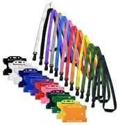 Id Card Badge Holder And Id Soft Neck Lanyard Strap - J-clip Free Pandp