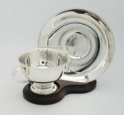 Aa Sterling Silver 925 Shabbat Kiddush Wine Cup And Plate Saucer