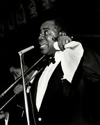 Herman Leonard Louis Armstrong, Nyc, 1950 / Silver Print / Ptd 2004 / Signed