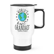 World's Best Grandad Travel Mug Cup With Handle - Funny Gift Grandpa Thermal