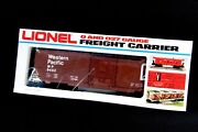Lionel Trains Freight Carrier 6-9452 Western Pacific Vintage 0 And 027 Gift New