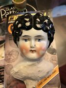 Anitique China Doll Head Dolly Madison /hertwig