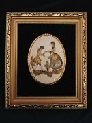 Staffordshire Ceramics Made In England By Harleigh China Fine Bone Plaque Framed