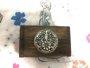 Wooden Box With Lid Hinged Storage Small Jewelry Box Unfinished Wooden Craft Box
